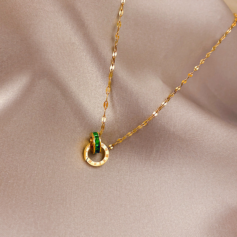 Emerald XIXI 21K Gold Coated Necklace