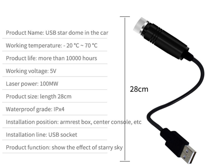 Car Atmosphere Ambient Star (USP LED)