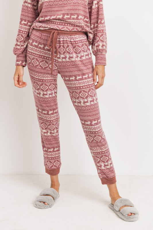 Christmas Reindeer Knit Joggers