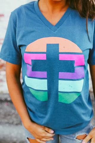 Colorful Cross Graphic Tee