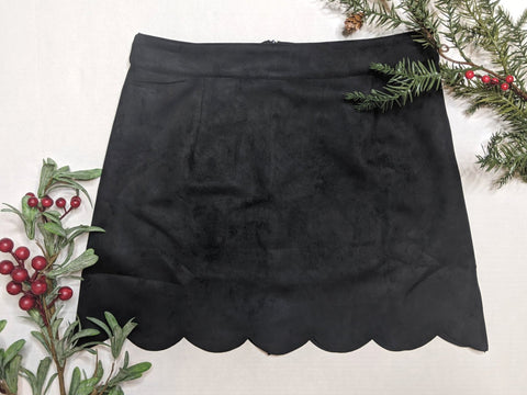 Black Scallop Skirt