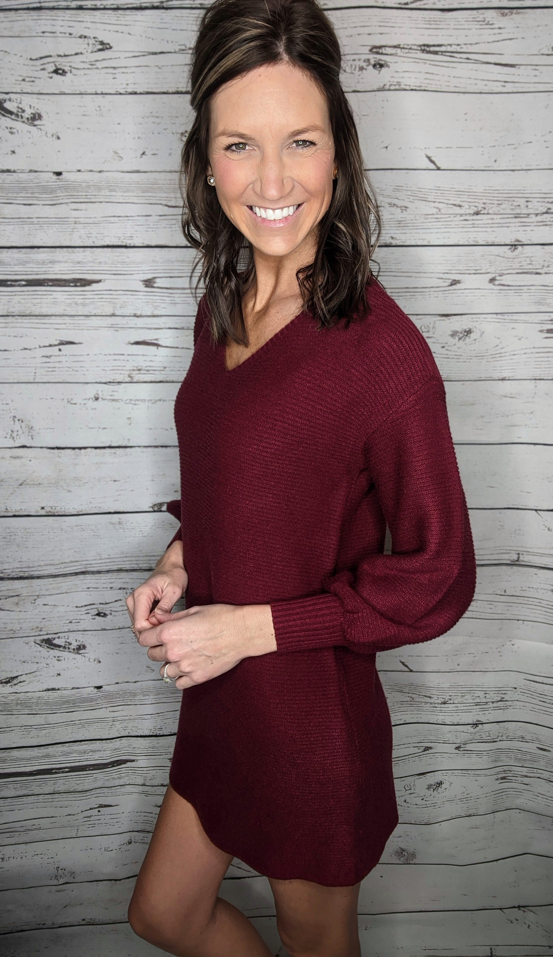 Merlot Sweater Dress