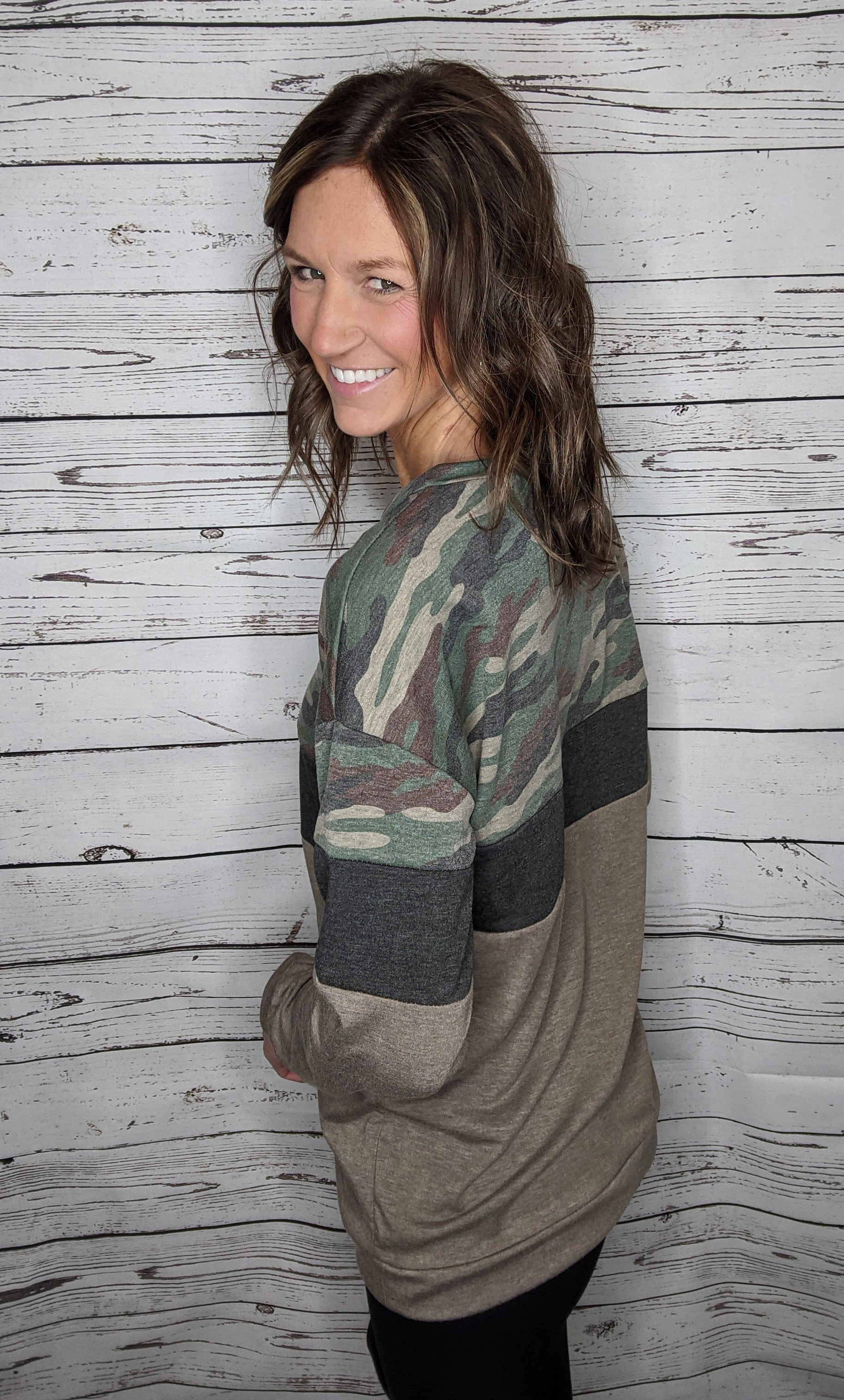 Crazy for Camo Top