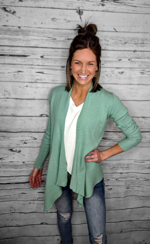 Open image in slideshow, Must Have Ribbed Drape Cardigan (2 Colors)