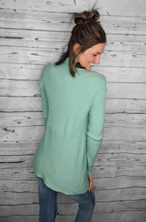 Must Have Ribbed Drape Cardigan (2 Colors)