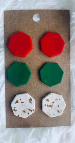Holiday Geo Earring Set