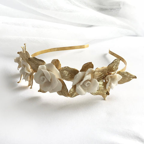 Emelia Headpiece in Gold
