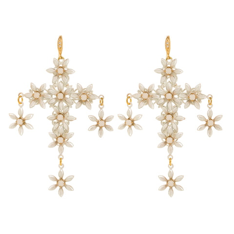 Chloe Earrings in White