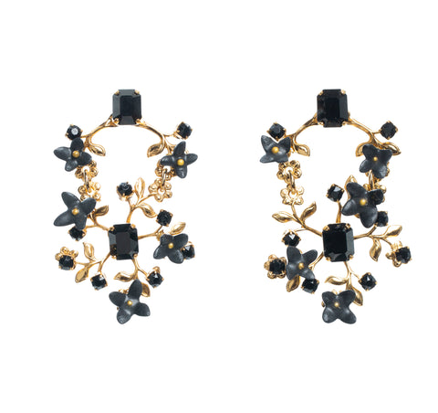Josephine Earrings in Black