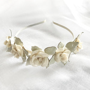 Emelia Headpiece in White