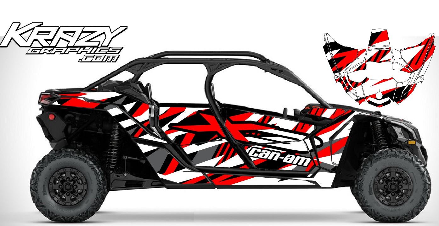 Can am X3 Max graphics kit made with high quality material