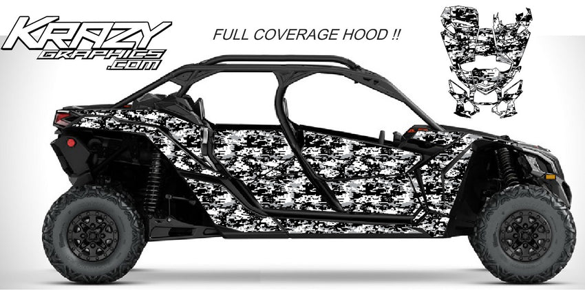 Can-Am X3 Maverick 4 door dig camo