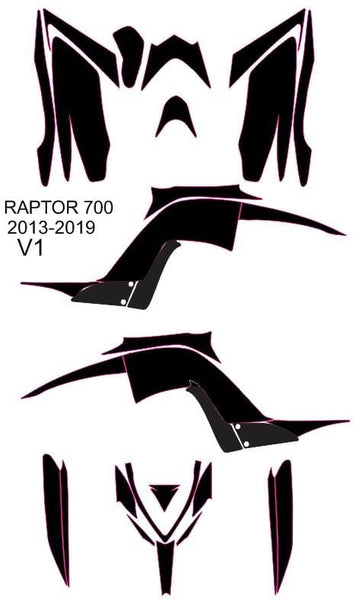 Yamaha Raptor 700 2013-2019 Template