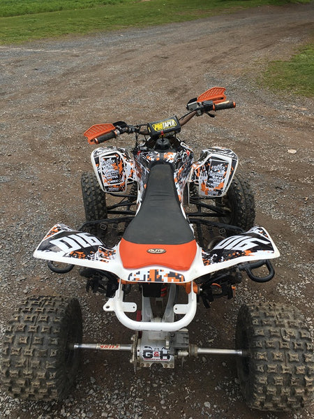 Honda TRX-450 Striped-Orange-White-Black Dig Camo