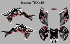 Honda TRX-450 Striped v-2-Red