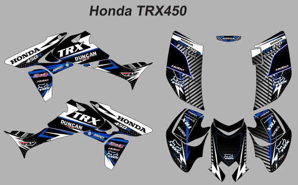 Honda TRX-450 Striped v-2-Blue