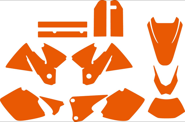 KTM EXC 1998-2000 template