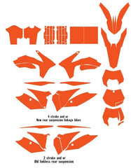 KTM SX Series 2011-2012 XCW-2013 template