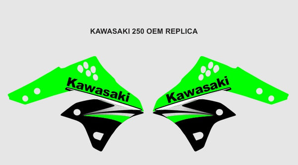 Kawasaki 250 OEM Replica Graphics