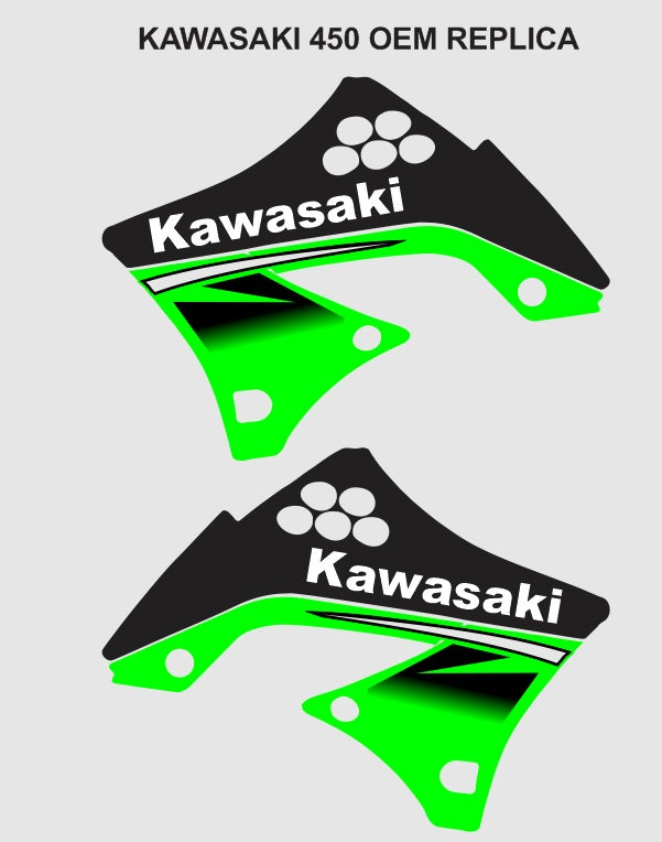 Kawasaki 450 OEM Replica Graphics