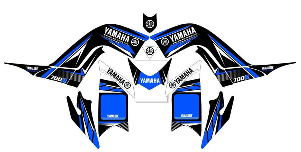 Yamaha Raptor 700R Graphics d1 v-blue