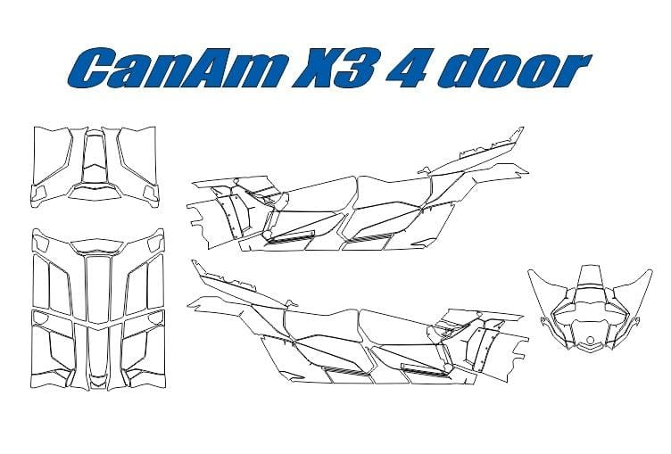 Can-AM X3 4 Door Template w-ROOF