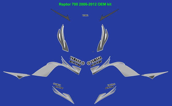 Yamaha Raptor 700 OEM Replica Graphics