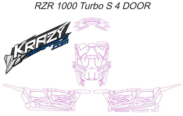 Polaris RZR-S 1000 4 Door Template (PayPal only )