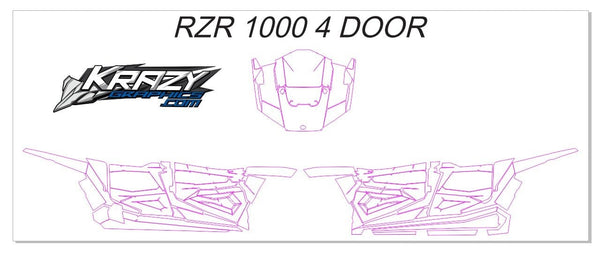 Polaris RZR 1000 Template 4 DOOR