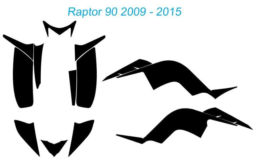 Yamaha Raptor 90 Template 2009 - 2015
