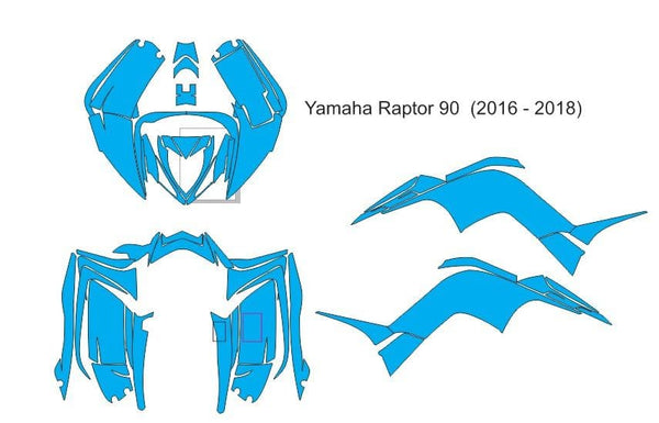 Yamaha Raptor 90 Template ( 2016 - 2018 )