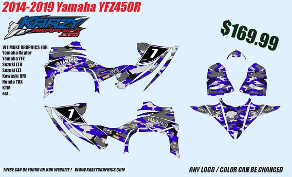 Yamaha YFZ Graphics (2014-2020)-d19