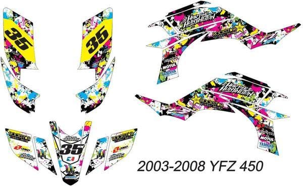 Yamaha YFZ Graphics (2003-2008)-d46