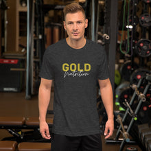 Load image into Gallery viewer, Short-Sleeve Gold Unisex T-Shirt