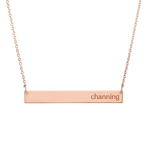 14K Gold Skinny Bar Necklace