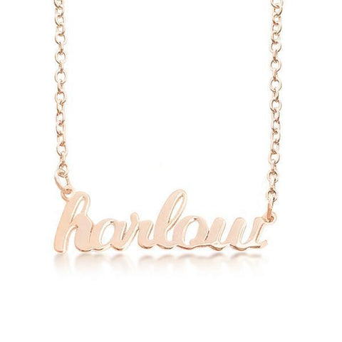 Image of 14K Gold Script Nameplate Necklace