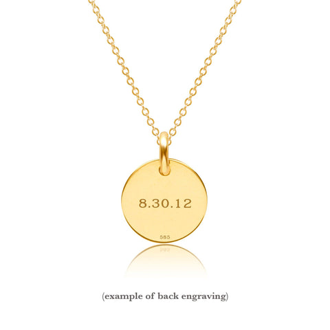 14K Gold Initial Necklace - Uppercase