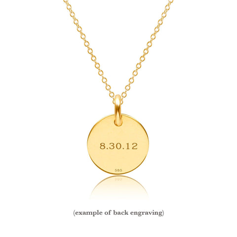 Image of 14k Gold Circle Necklace