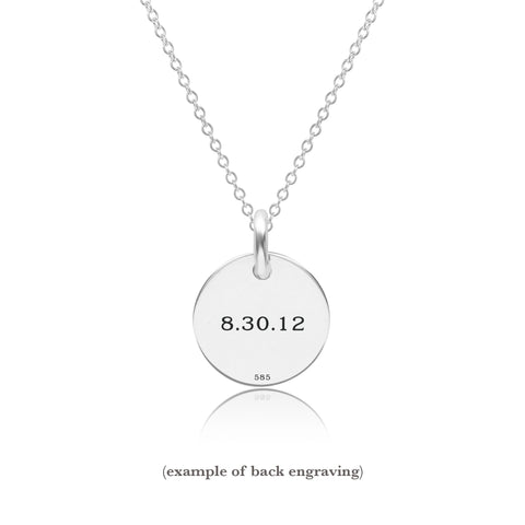 Sterling Silver Initial Circle - Uppercase