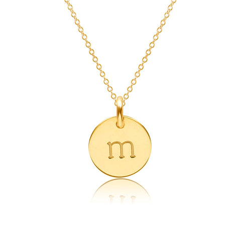 Image of Gold Initial Necklace - Lowercase