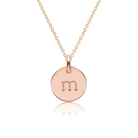 Image of 14k Gold Initial Necklace - Lowercase