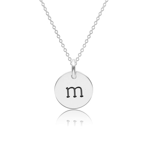 Sterling Silver Initial Necklace - Lowercase