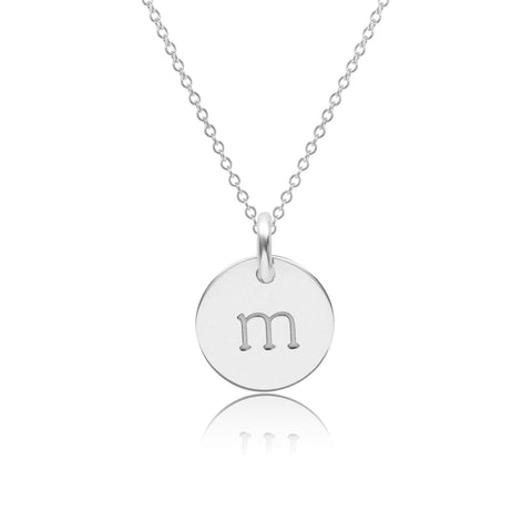 14k Gold Initial Necklace - Lowercase