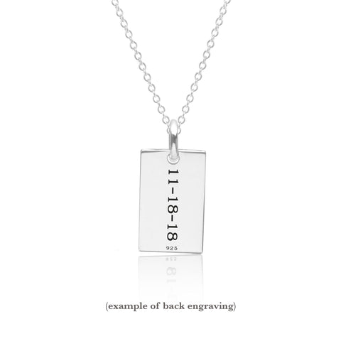 Image of Sterling Silver Mini Dog Tag Necklace