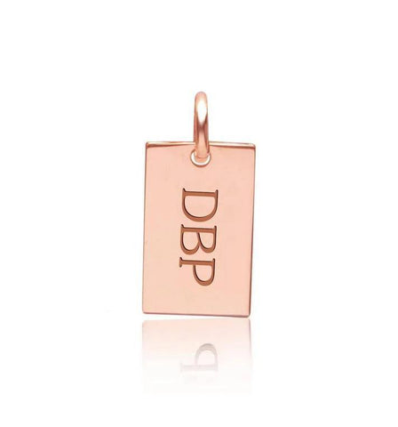 Image of 14k Gold Monogram Dog Tag