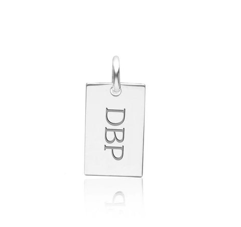 14k Gold Monogram Dog Tag