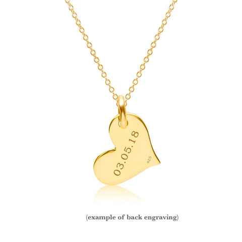 Gold Heart Necklace - 2 Hearts