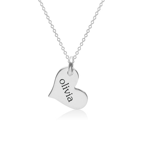 Image of Sterling Silver Heart Necklace