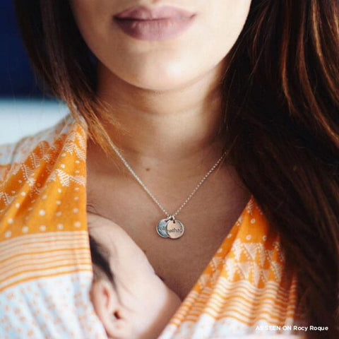 Sterling Silver Mommy Necklace 3 Name - tinytags