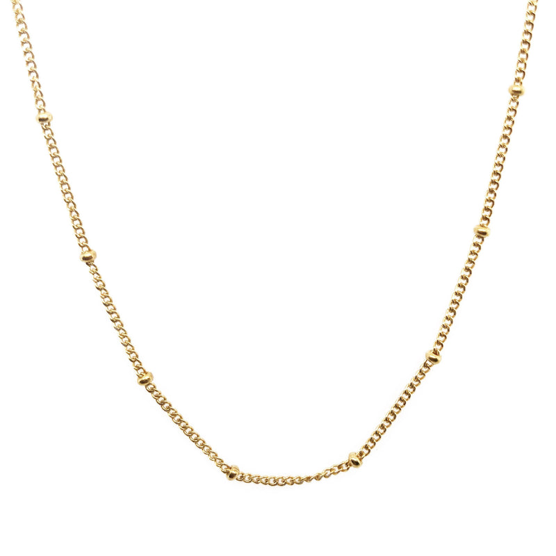 "30"" 14k Yellow Gold Satellite Necklace"
